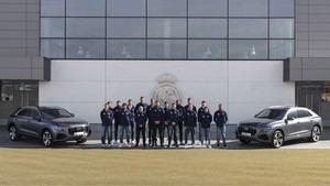Audi entrega las llaves de sus nuevos coches a los jugadores del Real Madrid Baloncesto