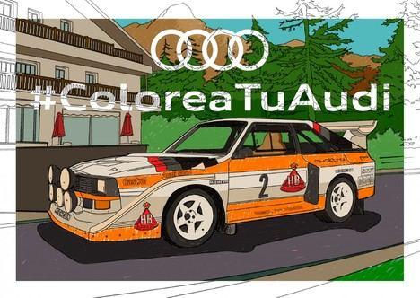 Audi crea ilustraciones de sus modelos más icónicos para colorear en casa