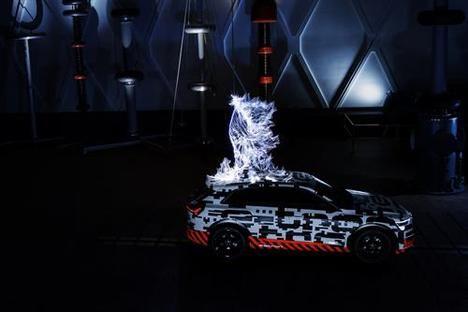 El Audi e-tron Prototype en una jaula de Faraday