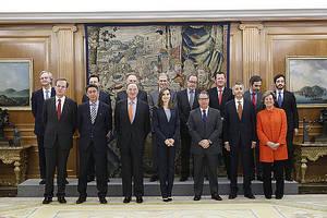 La Reina recibe a la Fundación Línea Directa en el Palacio de la Zarzuela