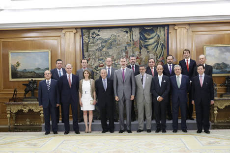 Su Majestad el Rey recibe al Club de Exportadores e Inversores Españoles en su vigésimo aniversario