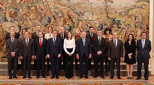 La Reina Letizia recibe en audiencia a una delegación de AULA, con motivo de su XXV Aniversario