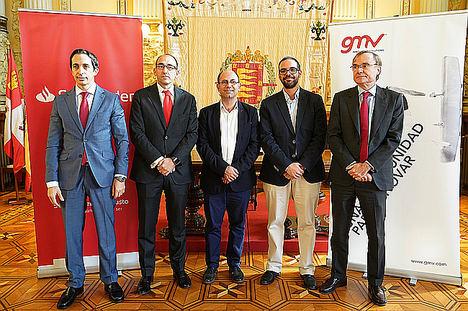 El Ayuntamiento de Valladolid y AUVASA firman un acuerdo con Banco Santander y GMV para digitalizar el pago en el transporte público
