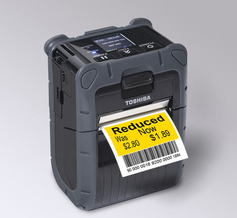 Toshiba lanza una impresora de etiquetas portátil de carga inteligente y un 50% más rápida