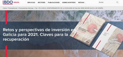 Retos y perspectivas de inversión en Galicia para 2021
