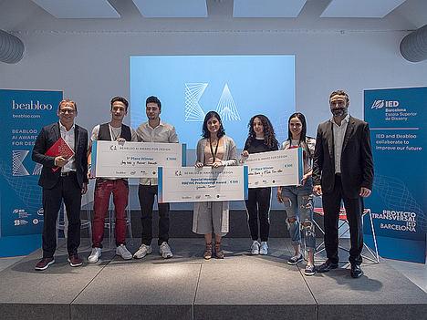 Beabloo y el IED Barcelona entregan los premios a los ganadores del concurso Beabloo AI Award for Design