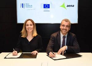 El BEI financia a Aena con 86 millones de euros para mejorar la eficiencia energética de sus aeropuertos