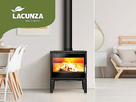 BIARRITZ, innovadora y sostenible, la nueva estufa de leña de LACUNZA