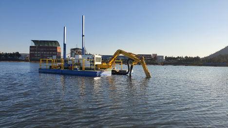 Baekkun Dredging, Co., Ltd presenta su nueva draga anfibia para vías fluviales estrechas y terrenos blandos