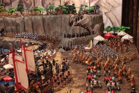 """18.294 personas han visitado el Diorama Numanclick """"Grandes batallas de la historia: 301, La batalla de las Termópilas."""""""