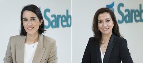 De izqda. a dcha.: Beatriz Hernández, nueva directora de Desarrollos y Promoción Inmobiliaria en Sareb y Marisa García Camarero, Secretaria General de Sareb.