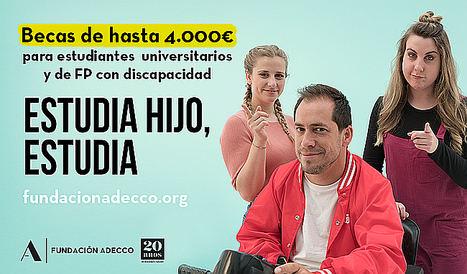 La Fundación Adecco invierte 300.000 euros en becas para ayudar a estudiantes universitarios y de formación profesional con discapacidad
