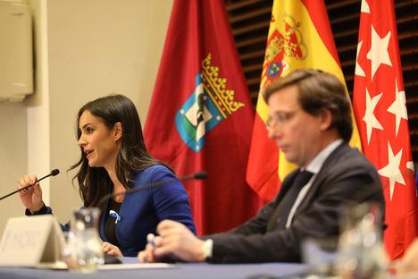 Begoña Villacís, vicealcaldesa del Ayuntamiento de Madrid y José Luis Martínez-Almeida, alcalde de Madrid.