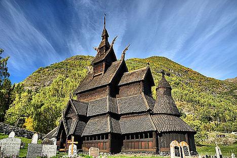 Borgund-Stavkirke, Iglesia.