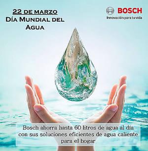 La tecnología de Bosch permite ahorros de hasta 60 litros de agua al día en el hogar