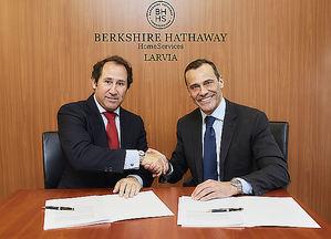 Bruno Rabassa, CEO de LARVIA y Claudio Prattico, Managing Director de Berkshire Hathaway HomeServices.