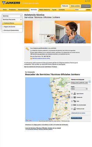 Geolocalización para buscar el servicio técnico oficial de Junkers más cercano