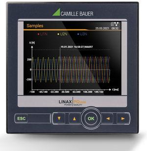 El LINAX PQ1000 mide la calidad del suministro eléctrico según los requisitos industriales de la clase S