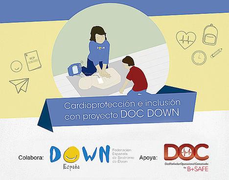 Monitores con síndrome de Down forman en RCP a alumnos de colegios de la Comunidad de Madrid