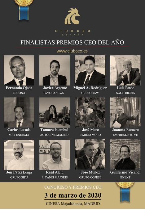 El Club CEO anuncia los nombres de los finalistas de la I Edición de los Premios CEO del Año