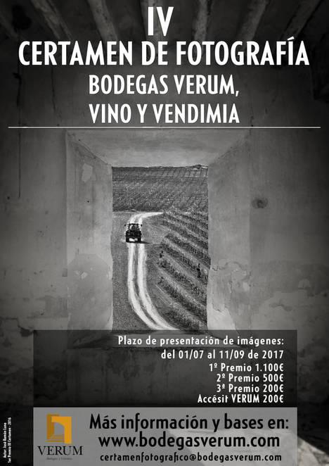 Objetivo: Viña, bodega y vino para el IV Certamen Fotográfico Nacional que organiza Bodegas Verum