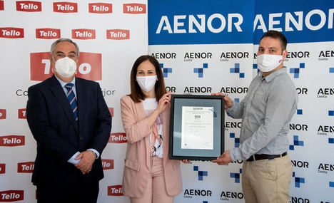 Grupo Tello obtiene la certificación AENOR de Protocolos frente al COVID-19