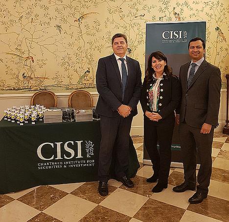 CISI-Diaphanum (de iqda. a dcha.), E. Andreu, R. Mateus y P. Shivaprasad.