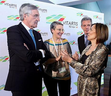 De izqda. a dcha.: el alcalde de Ávila, José Luis Rivas; la presidenta de Vitartis, Beatriz Escudero; y la consejera de Agricultura, Milagros Marcos.