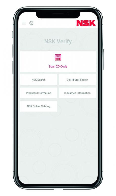 La aplicación NSK Verify se ha actualizado para incluir rodamientos industriales
