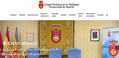 El Colegio Profesional de Podología de la Comunidad de Madrid frente al Ayuntamiento