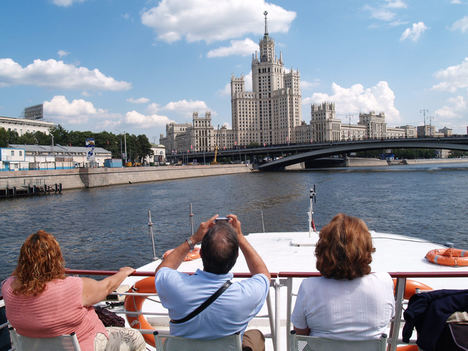 Crucero en el rio Moscova.