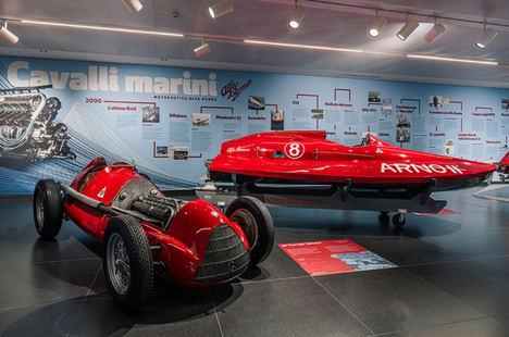 «Caballos de mar», la exposición de las lanchas Alfa Romeo