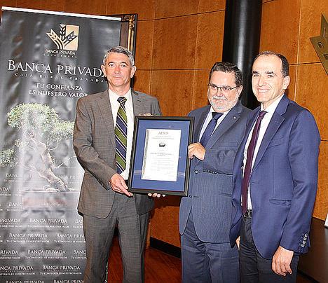 Banca Privada de Caja Rural Granada obtiene el certificado AENOR de Asesoramiento en Patrimonio Personal