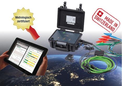 LINAX PQ5000-MOBILE en funcionamiento con una tableta y sin software extra (integrado en el navegador web). El funcionamiento con una sola tecla de control es también eficiente.