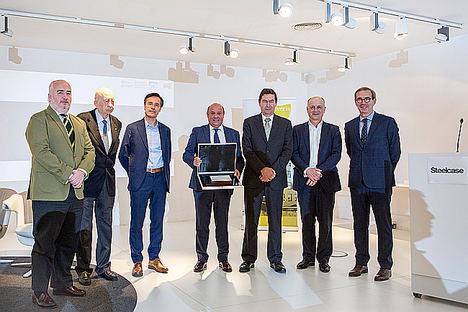 Juan de Navascüés, Luis Alberto Petit, Fran Bravo, Carlos Maortua, Eduardo Rodríguez, Antonio Medianero y Bernardo Villazán en la entrega del IV Premio Impulso.