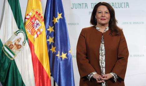 Carmen Crespo, consejera de Agricultura, Ganadería, Pesca y Desarrollo Sostenible, resalta que la plataforma de pesca extenderá la venta 'on line' a las 25 lonjas andaluzas
