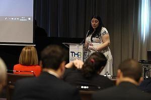 Carmen Escrig en el THR Summit.
