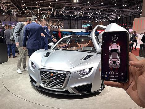 El nuevo coche de Hispano Suiza, controlado al 100% desde el móvil gracias a la tecnología de la española World Wide Mobility