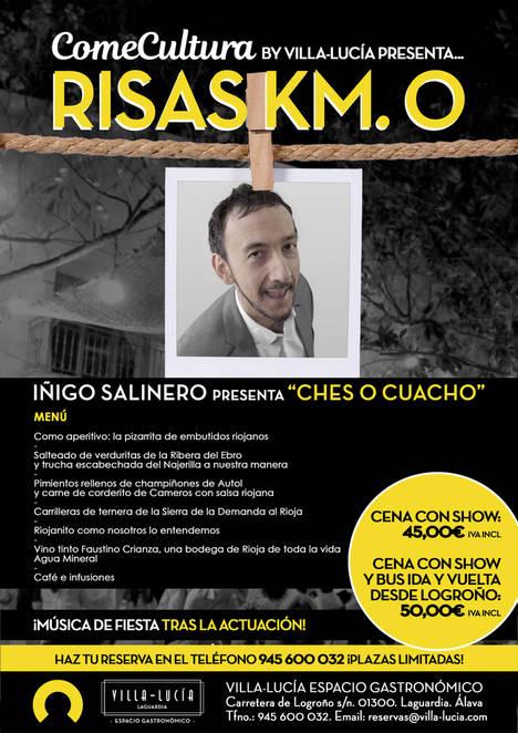 Íñigo Salinero y 'Tierra y Sal' ponen el broche de oro a la programación de agosto de 'Comecultura' en Villa-Lucía