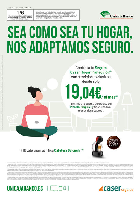 Unicaja Banco lanza un seguro de hogar con coberturas novedosas e incentivos para pólizas de auto y pymes