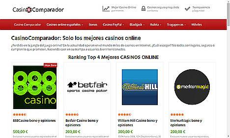 CasinoComparador.Com, un portal comparador de casino online necesario