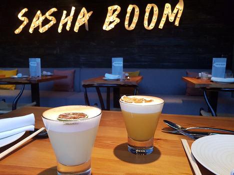 Cualquier hora es buena para degustar un PISCO en SASHA BOOM