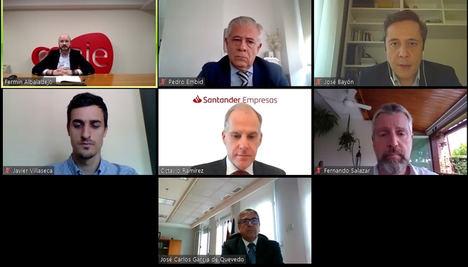 Ceaje, ICO, Banco Santander, Enisa, Cesce y Avalmadrid se reúnen para dar soluciones de financiación