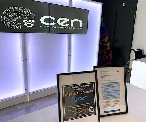 """Centro Europeo de Neurociencias, pionero en certificarse como """"Centro Seguro frente a la COVID-19"""""""
