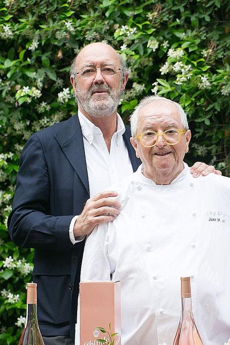 Chivite y sus vinos más emblemáticos, en la cena homenaje a Juan Mari Arzak, símbolo de la revolución culinaria en España