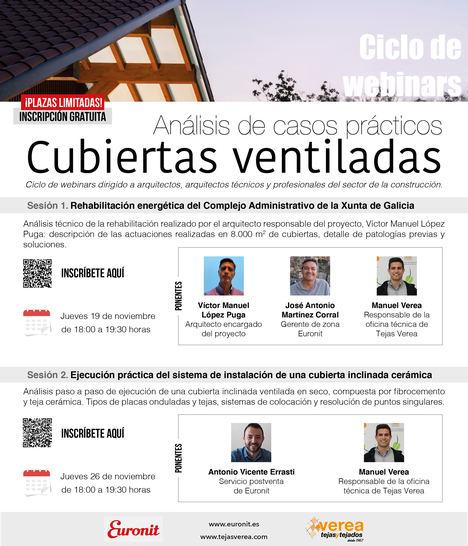Euronit celebra dos sesiones formativas online con análisis de casos prácticos para cubiertas ventiladas