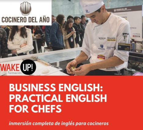 El Concurso Cocinero del Año lanza los primeros cursos de inglés para chefs a distancia