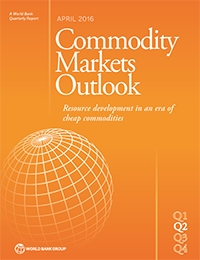 World Bank Group. 2016. Commodity Markets Outlook, April. World Bank, Washington, DC. License: Creative Commons Attribution CC BY 3.0 IGO