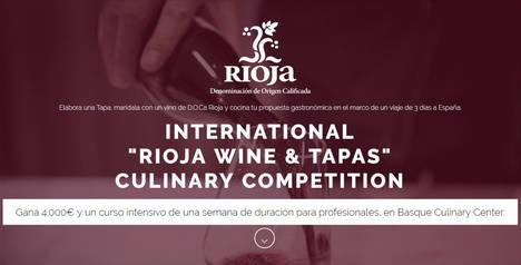 La D.O. Ca. Rioja y Basque Culinary Center lanzan el concurso internacional 'Rioja Wine & Tapas'