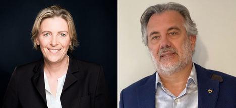 Corinne Derudder, Directora General de TF1, Dujardin y Joan Ferrer, presidente ejecutivo Jumbodiset.